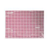 Asztal terítő 65x50 cm piros-fehér