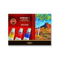Akril festékek KOH-I-NOOR 16 ml, 6 db készlet