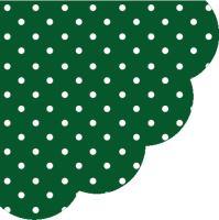 Szalvéta kerek PAW R  Dots Dark Green