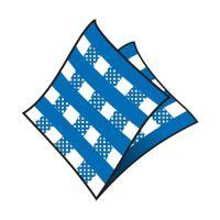 Szalvéta 1-rétegű, 33 x 33 cm kockás kék [100 db]