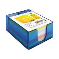 Írótömb nem ragasztott műanyag tartóban- színes/pastel 85x85 mm/400 l.