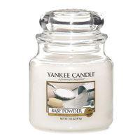 Gyertya Yankee Candle - Baby Powder, közepes