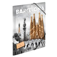 Doska s gumičkou PP A4 Barcelona