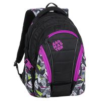 Študentský batoh BAG 9 B PURPLE/GREEN/BLACK