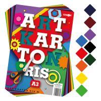 Színes papír készlet - rajzlap ART CARTON RIS A3 250g /50db/vegyes 10 szín