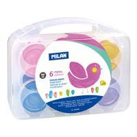 Ujjfesték készlet MILAN - 6 metál színek, 100 ml