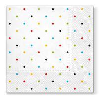 Szalvéta PAW L 33x33cm Colorful Dots