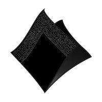Szalvéta 2-rétegű 33 x 33 cm fekete 50 db