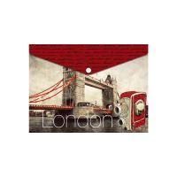 Irattartó PP patentos A5, London Bridge