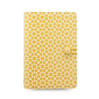 Diár Filofax Impressions Flowers - žlto biely, osobný