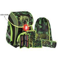 Školská taška - 5-dielny set, SMART 3D Triceptosaurus, LED