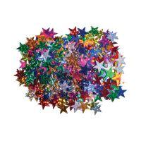 Dekoráció  csillagok mix szín 15 mm 14 g