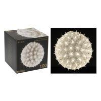 Guľa - svietiaca 100 svetiel studená biela, 15 cm