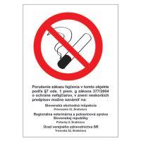 Címkék Info - Tilos a dohányzás (ZZ 377/2004) 185x131 mm