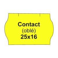 Árcímkék. KAPCSOLAT 25x16 hosszúkás - 1125 címke / tekercs, sárga