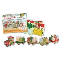Adventus naptár Karácsonyi vonat 60 db készlet