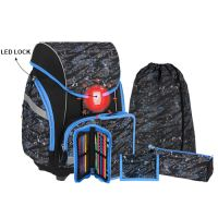 Školská taška - 7-dielny set, PRO LIGHT PREMIUM Football, LED