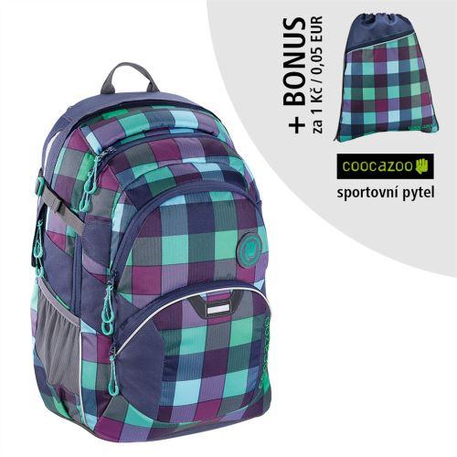 Školský ruksak Coocazoo JobJobber2, Green Purple District+ BONUS ŠPORTOVÝ VAK za 0,05 EUR