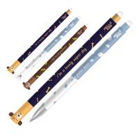 Zselés toll /törölhető M&G Erase Happy Zoo 0.5 mm, kék
