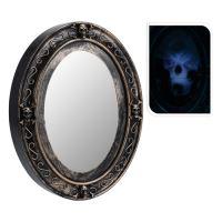 Dekorácia Halloween - zrkadlo svietiace so zvukom 25x33 cm, 1ks