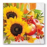 Szalvéta PAW L 33x33cm Autumn Composition