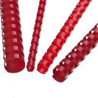 Hrebene plastové 6 mm červené