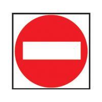 Etikety Info - Zákaz vstupu 114x114 mm