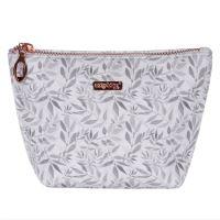 Kozmetická taška White Leaves - hranatá