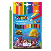 Színesceruza Ocean World háromszögű JUMBO 12 db