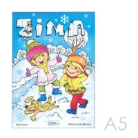 Omaľovánka A5 Litera - Zima