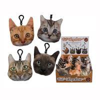 Kulcstartó macskás figura 11x9x4cm, vegyes