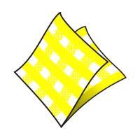 Szalvéta 1-rétegű, 33 x 33 cm kocká sárga 100 db