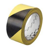 Ipari ragasztószalag, sárga-fekete, 50mm x 33m