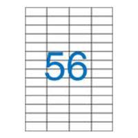 Címkék VICTORIA A4/100 db, 52,5x21,2 - 56 címke, fehér