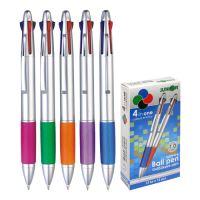 Golyóstoll 4színű, műanyag, metál szín