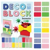Dísz papír készlet - rajzlap DECO BLOCK B4 24x34 cm,250g /18db/ 6 minta