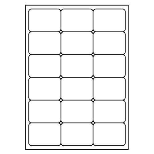 Címkék PRINT A4 / 100 db, 68x46,8 - 18 címke, fehér