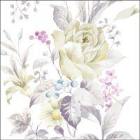 Szalvéta PAW L 33x33cm White Rose
