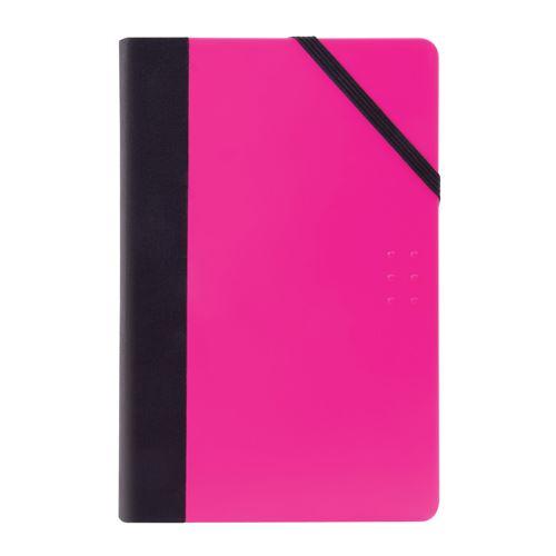Jegyzetfüzet vonalas MILAN 21x14 cm rózsaszín