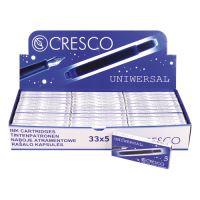 Tintapatron CRESCO 5 db - kék