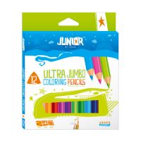 Ceruzák Jumbo 12 Color Junior 10 + arany és ezüst