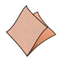 Szalvéta 1-rétegű, 33 x 33 cm barack [100 db]