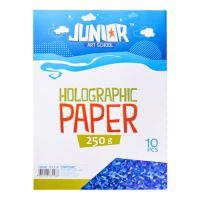 Dekor karton  A4 10 db kék hologrammos 250 g