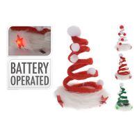 Karácsonyi sapka  LED 12 cm, vegyes/1db