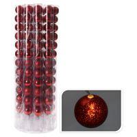 Világító lánc 10 LED - piros gömb 12x50 mm, 330 cm