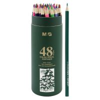 Pastelky šesťhranné M&G v puzdre, sada 48 ks