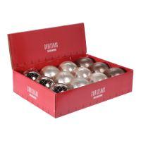 Karácsonyfagömb - PP treasure 80 mm, vegyes/1db