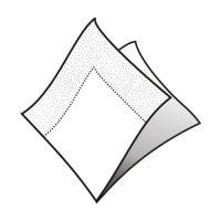 Szalvéta 2-rétegű, 33 x 33 cm fehér [50 db