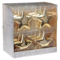 Karácsonyfadísz - PP arany csillag 15 cm, 1db