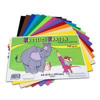 Rajzlap iskolai A4 180g/60 lapos készlet 12 szín